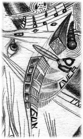 Le surréalisme en dessins - compositions surréalistes - crayon gris - graphite