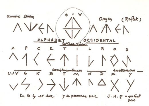 Awen Amen - Alphabet des trois rayons