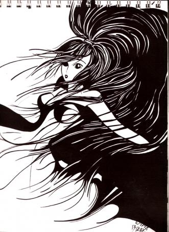 Galerie mangas dessiner manga dessin manga noir blanc - Image de fille noir et blanc ...
